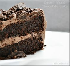 Desert Island Chocolate Cake: a NellieBellie recipe. a chocolate cake recipe from scratch.