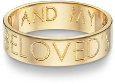'I am My Beloved's' Wedding Band, 14K Yellow Gold on SonGear.com - Christian Shirts, Jewelry