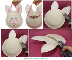 Simple Easter Basket Craft ♥ different take on the bunny basket...maybe next year