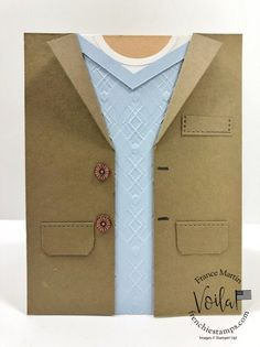 Sports Jacket With Jeans, Tie Day, Stampin Up Cards, Men's Cards, Cards Diy, Handmade Cards, Birthday Cards For Men, Fathers Day Cards, Suit And Tie
