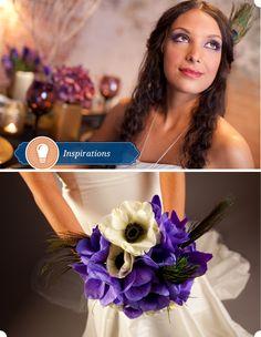 Purple Peacock Wedding