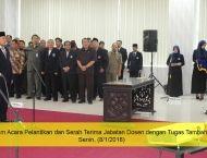 Pelantikan Pejabat Baru UM di Awal Tahun 2018