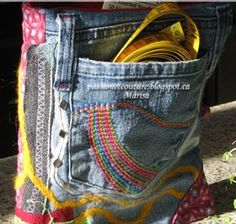 How to make Recycled Jeans -  Needle Case - DIY Craft Project with instructions from Craftbits.com