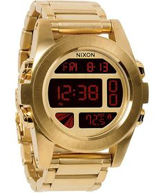 5b83ad75170e Nixon Unit SS gold digital watch with digital LCD module with positive or  negative display