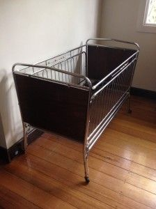 """Vintage cot, puts me in mind of the show """"Call the Midwife""""."""