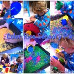 Learn how to make easy to make color rice and enjoy via sensory play.