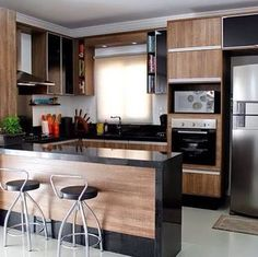 44 fabulous modern kitchen sets on simplicity, efficiency and elegance 25 Home Decor Kitchen, Interior Design Kitchen, Home Kitchens, Kitchen Dining, Kitchen Ideas, Kitchen Layout, Küchen Design, House Design, Design Ideas