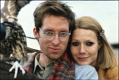 fuck-yeah-film-directors:    Wes Anderson and Gwyneth Paltrow on the set of The Royal Tenenbaums (2001).    Smug smile totally deserved.