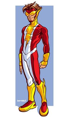 Note: This week's Bart Allen (aka Impulse aka Kid Flash aka The Flash) redesigns are presented in honor of the character's co-creator, artist Mike Wieringo, who passed away on August More inf… Flash Characters, Superhero Characters, Dc Comics Characters, Dc Heroes, Comic Book Heroes, Comic Books, Super Hero Outfits, Kid Flash, Superhero Design