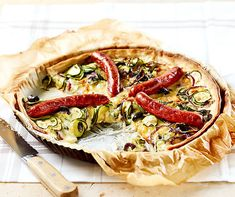 Creme Fraiche, Zucchini, Vegetable Pizza, Vegetables, Food, Cake Batter, Food Food, Bakken, Vegetable Recipes