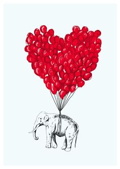 Love Elephant by Lise Clara