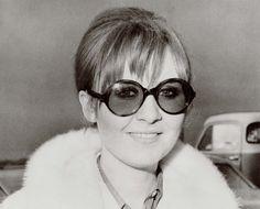 Lulu in vintage Oliver Goldsmith Sunglasses