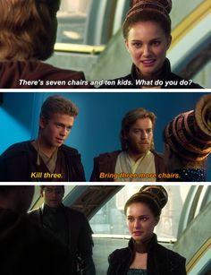 Gotta love Anakin lol!