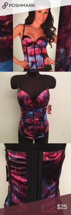 NWT Space Corset Adult Large. Perfect Condition. Adjustable Straps. Back had 3 different rows of closure for a perfect fit. Body Rage Intimates & Sleepwear