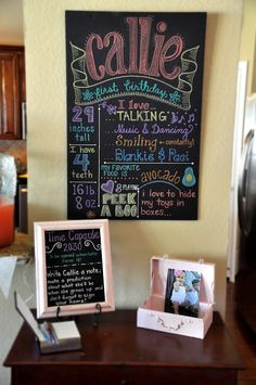 Callie's Pink & Chalkboard Extravaganza | Keeping Up With The Morgans - Cute 1st birthday party with a Time Capsule idea!