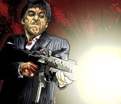 Fan Art of Al Pacino for fans of Al Pacino 97220 Al Pacino, Scarface Poster, Scarface Movie, Montana, Arte Cholo, Trill Art, Gangster Movies, Michelle Pfeiffer, Film Serie
