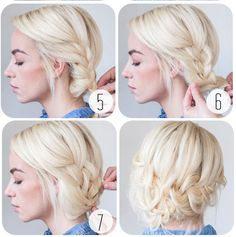 Simple Tucked Braids - Ways to Pull Off the Perfect Messy Pinterest Updo - Photos