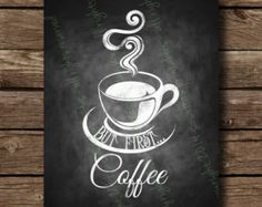 Chalkboard art for cafes