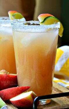 White Peach Margarita | from willcookforsmiles.com