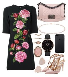 """""""150."""" by plaraa on Polyvore featuring Dolce&Gabbana, Chanel, Anne Sisteron, Forever 21, Valentino and CLUSE"""
