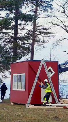 Unique Small House Plans, Tiny House Plans, Folding House, Folding Architecture, Creative Inventions, Building A Cabin, Build Your House, Tiny House Nation, Interior Design Software