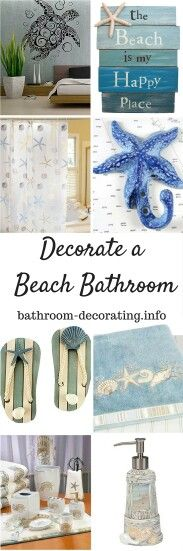 How to Decorate a Beach Bathroom  ! Tons of Ideas !