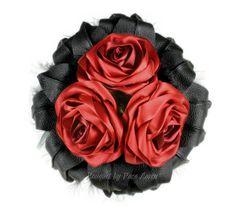 Red Bridal Bouquet Red Wedding Bouquet Red by BouquetByRosaLoren, $225.00