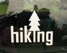Hiking camping biking graphic car window vinyl by liltinpurse