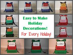 Holiday Block Decorations (for every holiday!) — Soda Pop Avenue