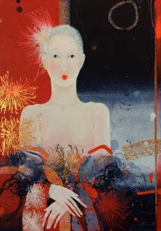 """Saatchi Art Artist Yulia Luchkina; Painting, """"Once dreamed me that I'm butterfly."""" #art"""