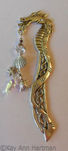 ☆ Tibetan Silver Sea Dragon Book Marker :: By *KayAnnHartman ☆
