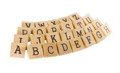 26 Natural Wooden English Alphabet Blocks ABC by KlikKlakBlocks