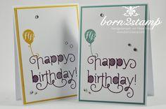 STAMPIN' UP! Geburtstagskarte Age Awareness InColor