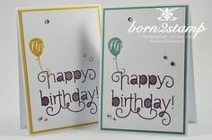 STAMPIN' UP! Geburtstagskarte Age Awareness InColor