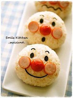 Anpanman rice ball