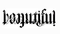 BEAUTIFUL/IMPERFECT ambigram tattoo idea <3