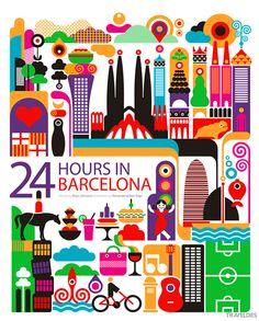充满童趣的插画作品:24小时城市漫游_CG资讯_火星时代
