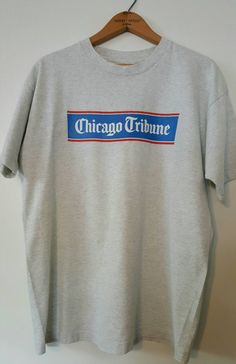 Chicago Shirt, Chicago Tribune Newspaper T-shirt, Vintage Newpaper Shirt by ResouledGypsy on Etsy   .....................................Please save this pin.   ............................................................. Click on the following link!.. http://www.ebay.com/usr/prestige_online