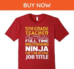 Mens 5th Grade Teacher Is Not An Actual Job Title TShirt Large Cranberry - Careers professions shirts (*Amazon Partner-Link)