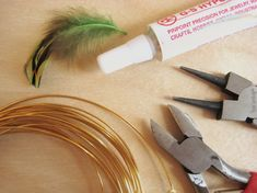Feather End Caps - How Did You Make This? | Luxe DIY Head Pins, Bead Caps, Feather, Jewelry Making, Beads, Diy, Beading, Quill, Bricolage