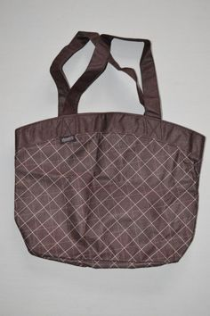 Planet E Eco Stream Re-useable Shopping Totes Shoulder Bags Pink Brwn Plaid NWOT #PlanetE