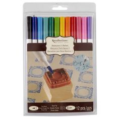 <div>Great for rubber-stamping and other paper crafts, these quality markers are a go-to tool fo...