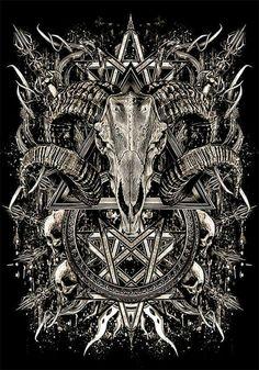 Satanic Tattoos, Satanic Art, Arte Horror, Horror Art, Bd Art, Heavy Metal Art, Evil Art, Dark Artwork, Demon Art