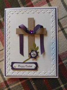 He is Risen by monkswife - Cards and Paper Crafts at Splitcoaststampers Easter cards carterie, pergamano et tableaux - Page 5 Diy Easter Cards, Handmade Easter Cards, Quilling, Easter Cards Religious, Holiday Cards, Christmas Cards, Easter Messages, Easter Cross, Easter Projects