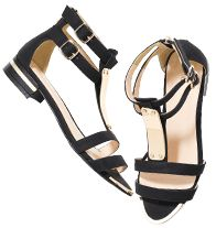 mark Black Gleam Sandals