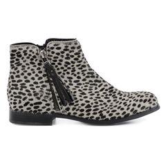 Luipaard enkellaarsjes - zwart wit