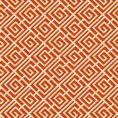 Orange Fabric Geometric Fabric Cotton Fabric by RoomKandi on Etsy