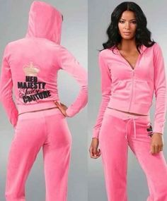 Going out in your bright pink Juicy Couture tracksuit.