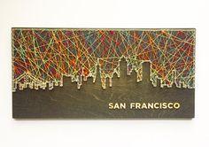 San Francisco Skyline String Art San Francisco Art