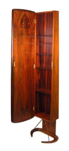 danish modern rosewood grandfather clock bar cabinet by hovmand olsen ebay